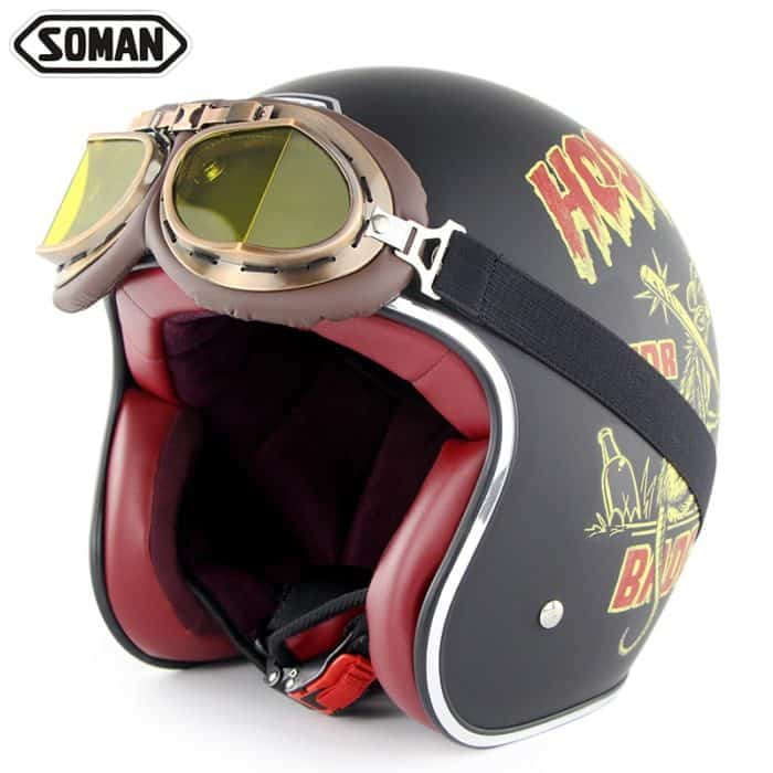Retro Helmet Motorcycle Headgear