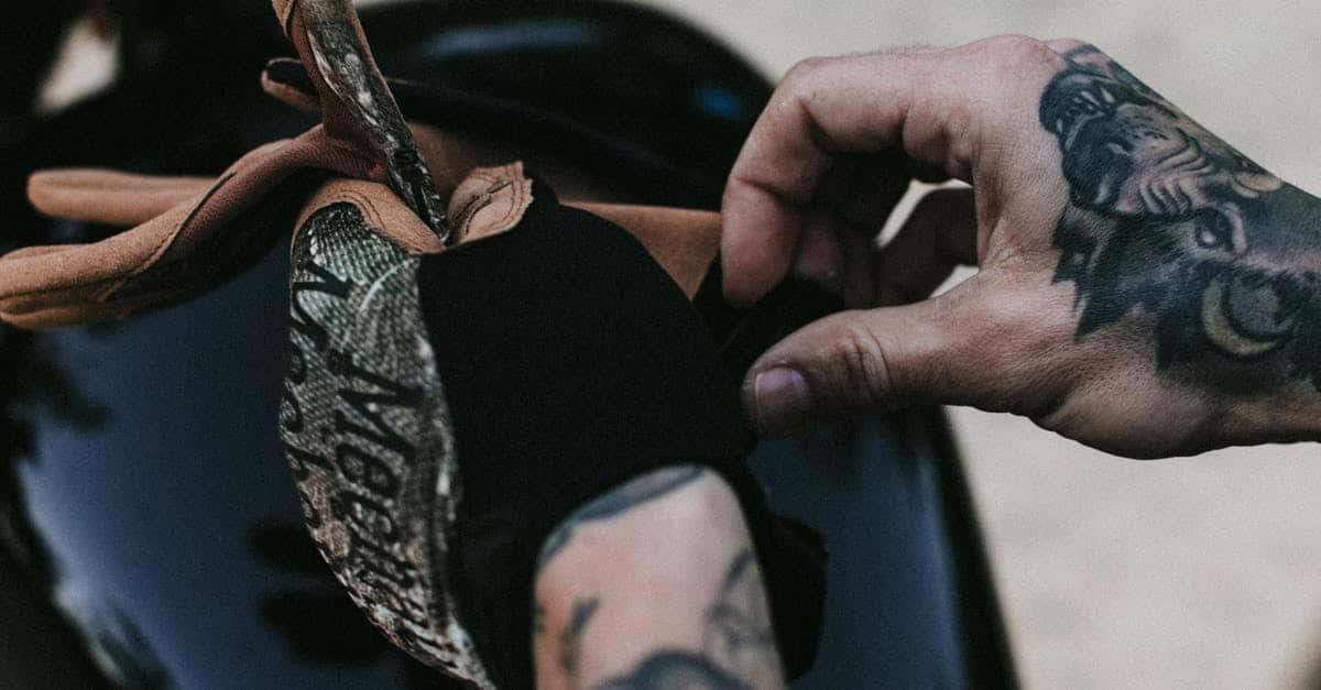 A close up of a tattoo on his feet