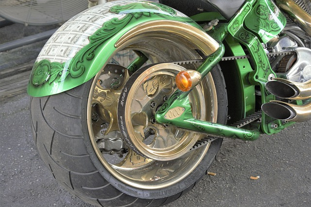 A Motorcycle Tire